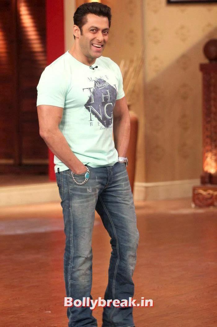 Salman Khan Promotes 'Jai Ho' on sets of Comedy Nights with Kapil, Salman Khan & Daisy Shah on Comedy Nights with Kapil