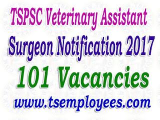 TSPSC Veterinary Assistant Surgeon Notification 2017 Apply Online TS Veterinary Job