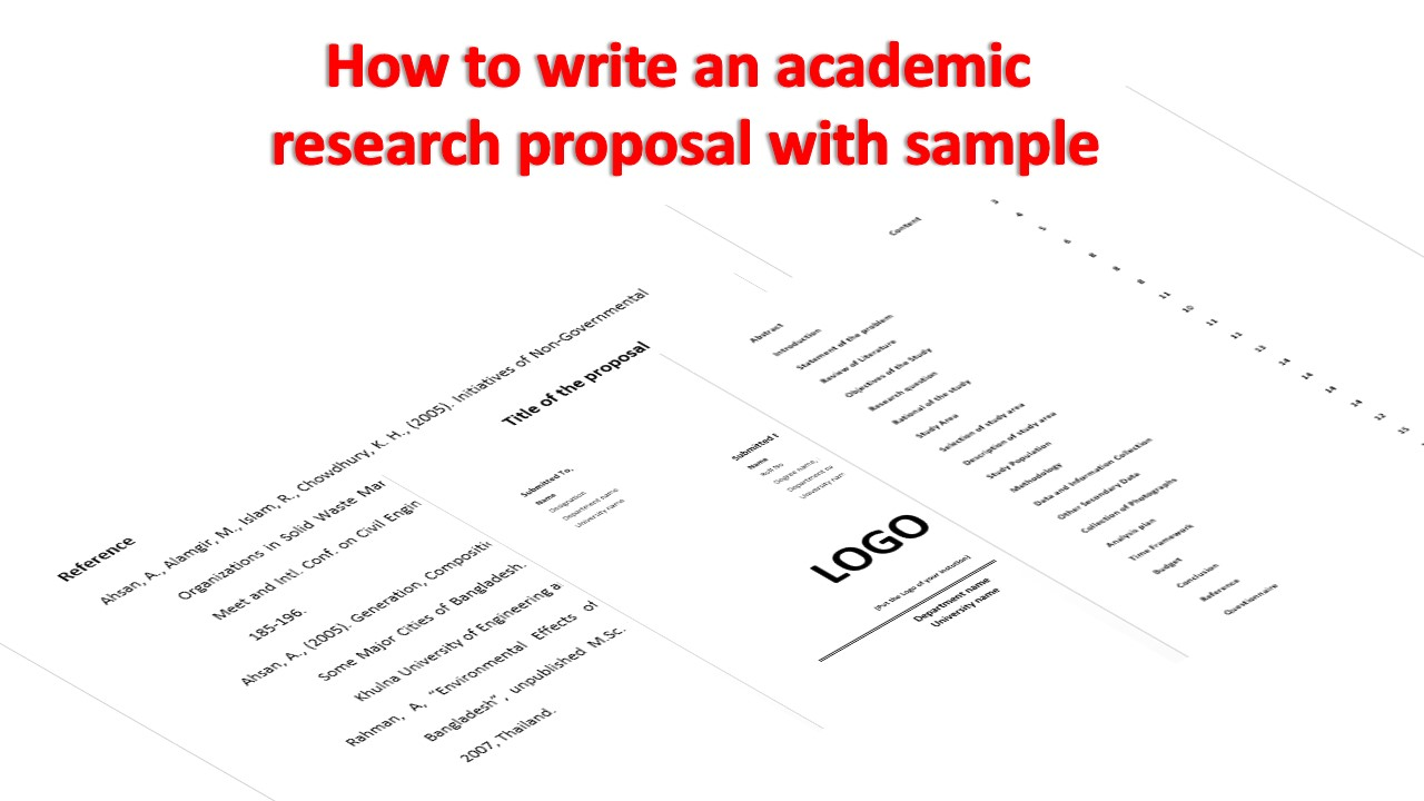 How to write an academic proposal