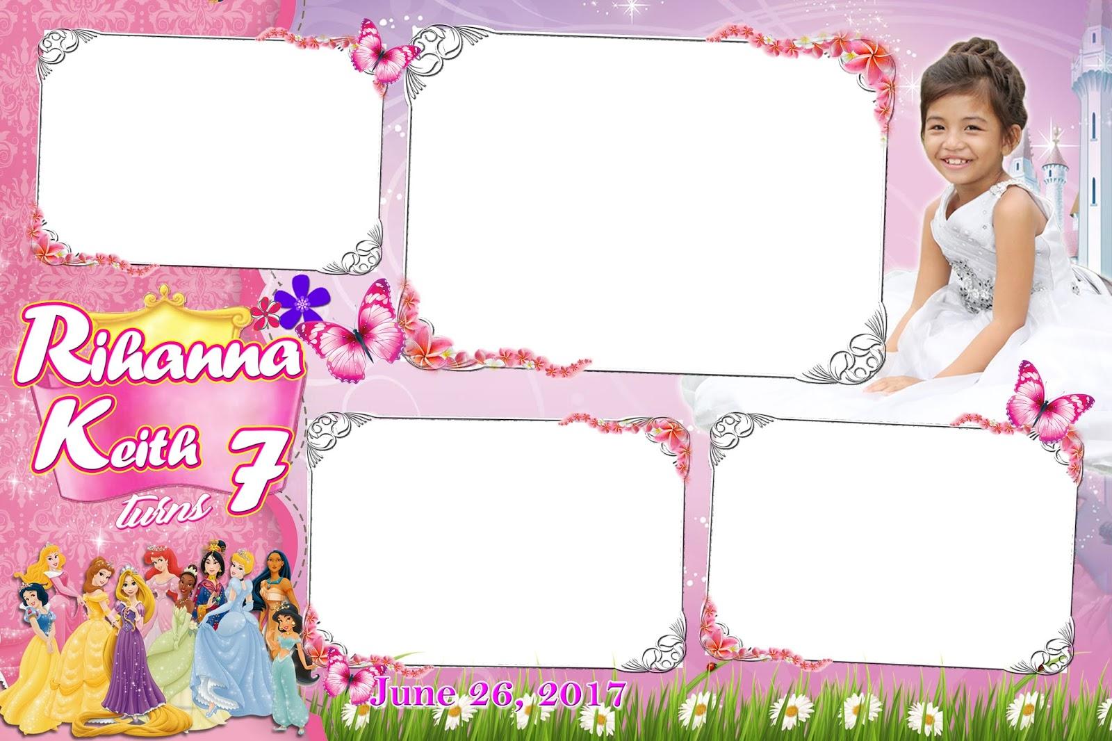 disney princess photobooth template