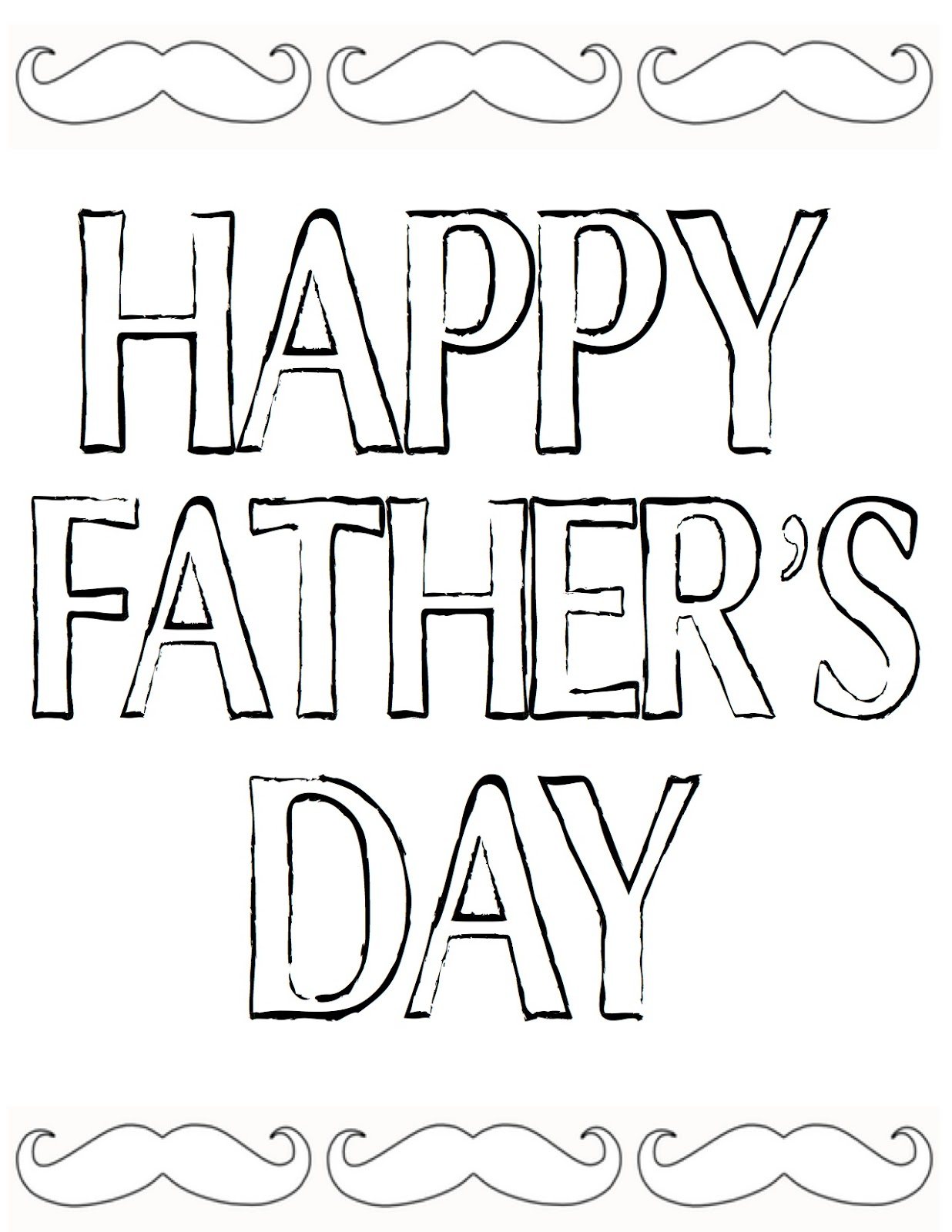Free Happy Fathers Day Coloring Pages Printable Sheets