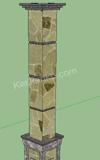 Model Tiang Rumah Menggunakan Batu Alam