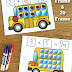 School Bus Addition Mats + Zap Zap Kindergarten Math Review