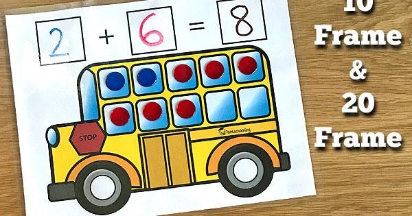 School Bus Addition Mats Zap Zap Kindergarten Math