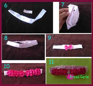 Tutorial cara 2 membuat bando cantik dari kain perca satin