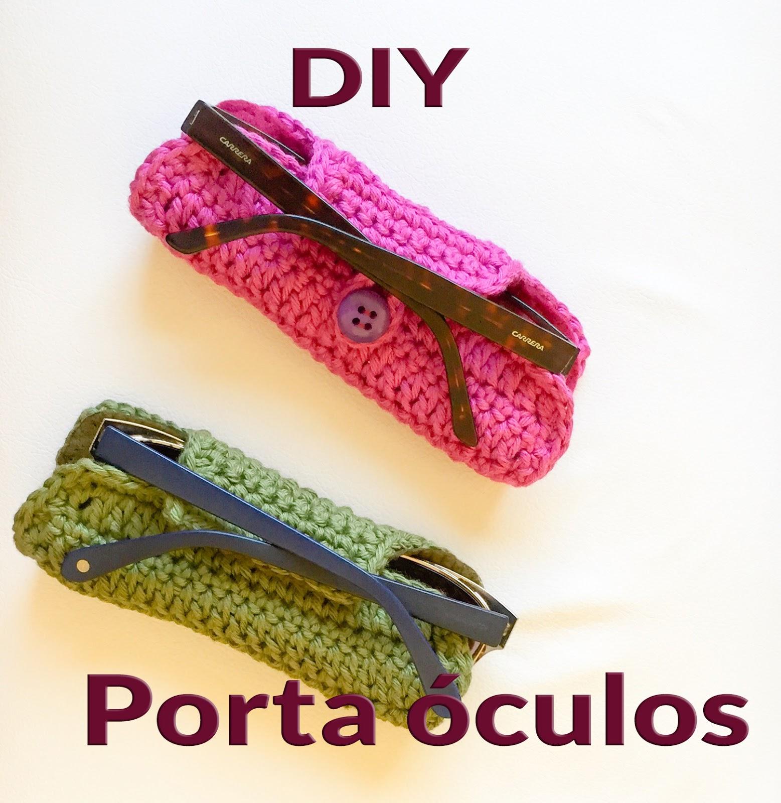 Modernizando o croch porta culos crocheted sunglasses for Porta oculos