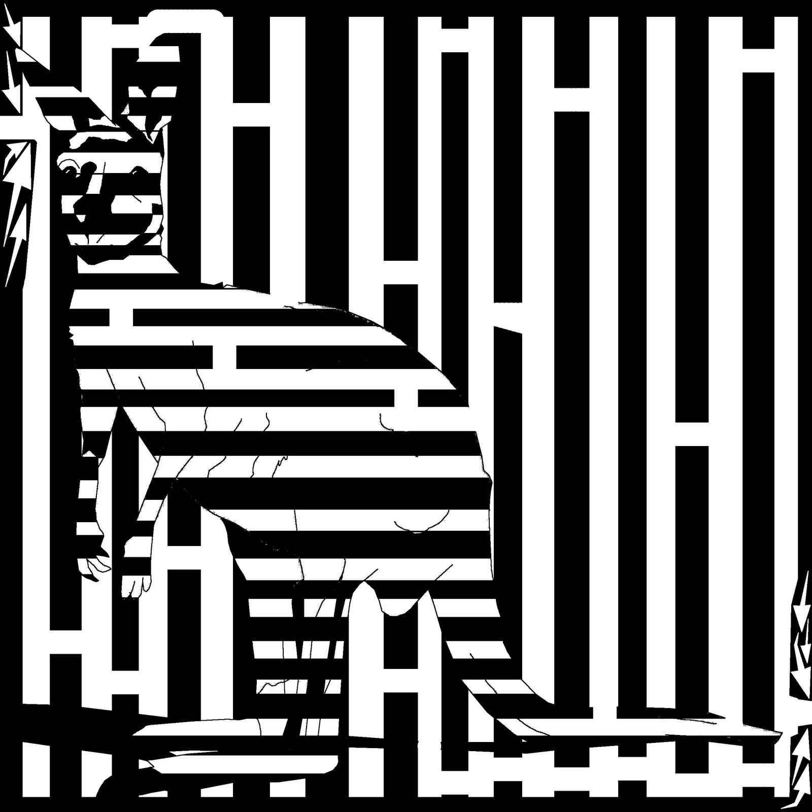maze kangaroo optical illusion yonatan frimer artist night drawing mazes