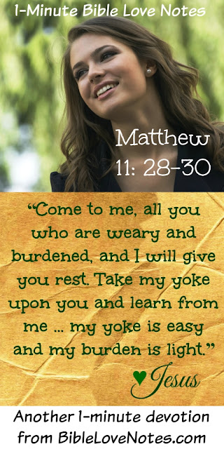 Matt.11:28-30, come and learn from Jesus