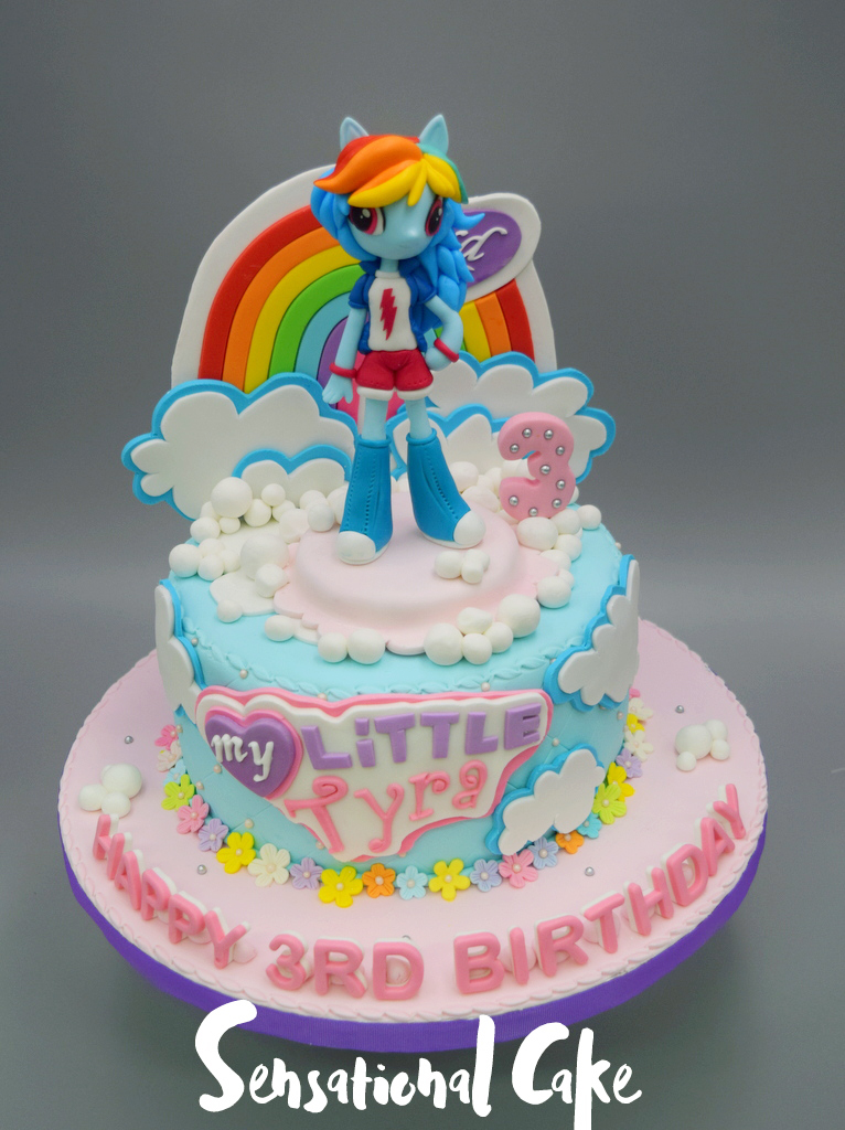 The Sensational Cakes My Little Pony Rainbow Dash Unicorn Inspired