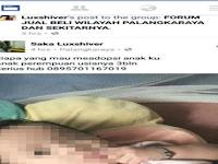 Duh, Orang Tua Ini Tega Jual Bayinya di Facebook, Alasannya Bikin Netizen Geram