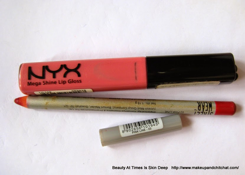 Pink Lip color products combination