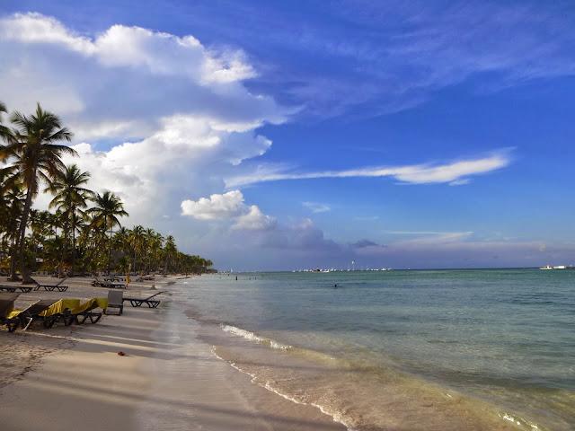 Praia do Hotel Barceló Bávaro Palace Deluxe, Punta Cana.
