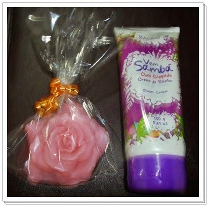rosas de sabonetes
