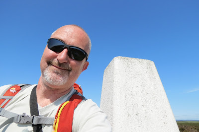 A self-portrait at the trig pillar.