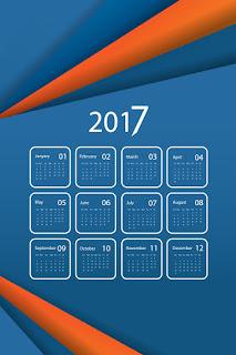 2017カレンダー無料テンプレート214