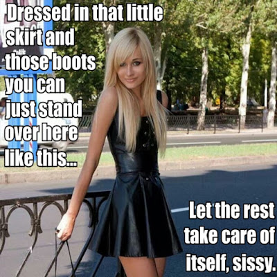 Dressed in public Sissy TG Caption - Hard TG Caps - Crossdressing and Sissy Tales and Captioned images