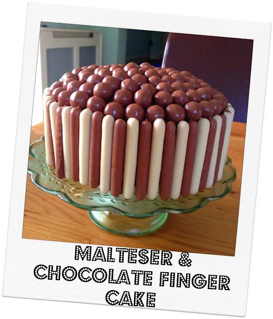 Maltese & Chocolate Finger Cake