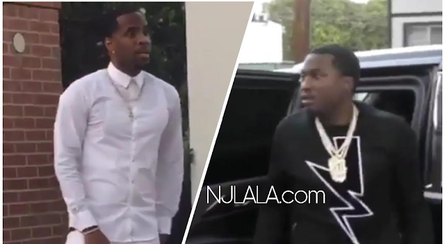 New Video Shows Meek Mill And His Goons Roll Up On Safaree To Jump Him!