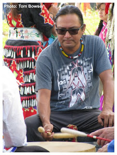 Native American Drummer | Seven Springs | Navy Pier in Chicago | Photo by Tom Bowser
