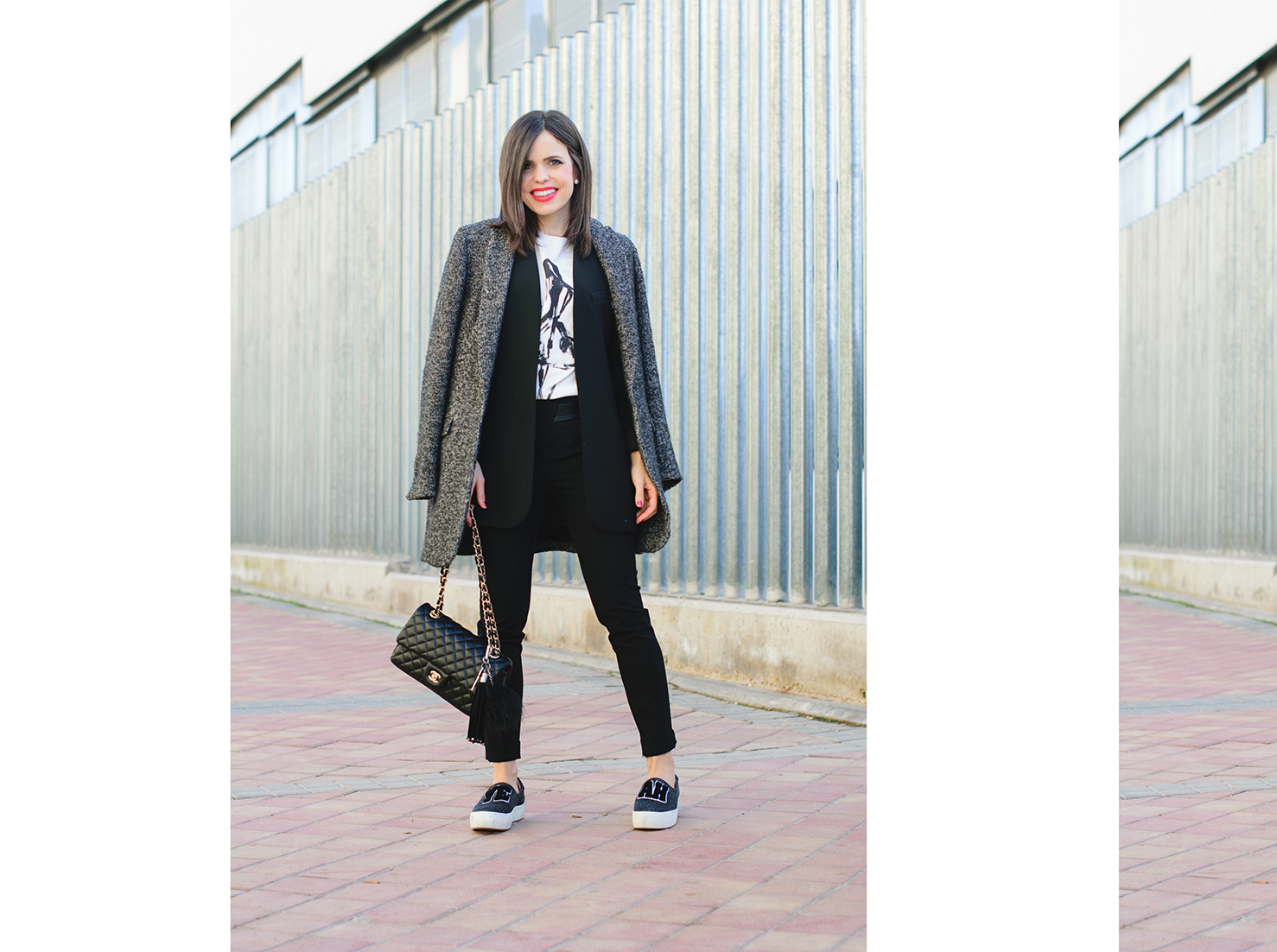 Working look con sneakers de Zara