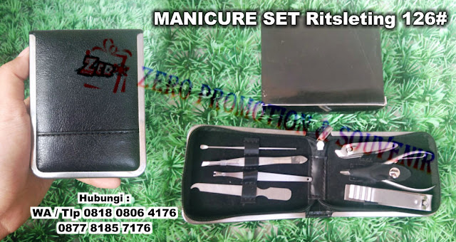 MANICURE SET Ritsleting 126#,  Kikir kuku manicure pedicure set kit, kuku kit, peralatan gunting kuku, Nails Manicure Set, Manicure & Pedicure