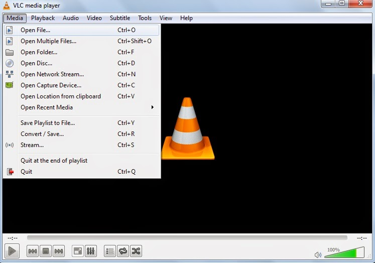 vlc opening file