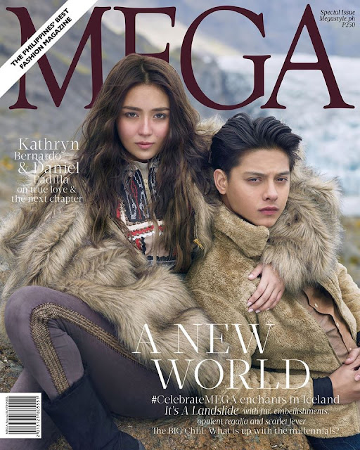 Kathryn Bernardo with Daniel Padilla Mega November 2016 Cover Photo