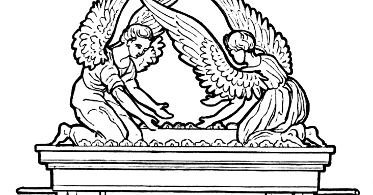 coloring pages ark of the covenant | The Ark of the Covenant Coloring Pages | Color The Bible