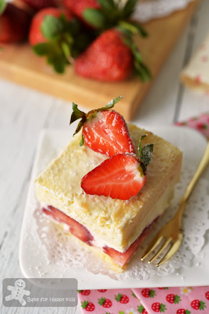 easy Japanese strawberry chiffon shortcake