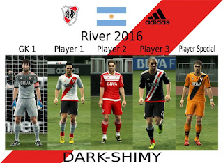 Kits River Plate 2016 update 3 Pes 2013
