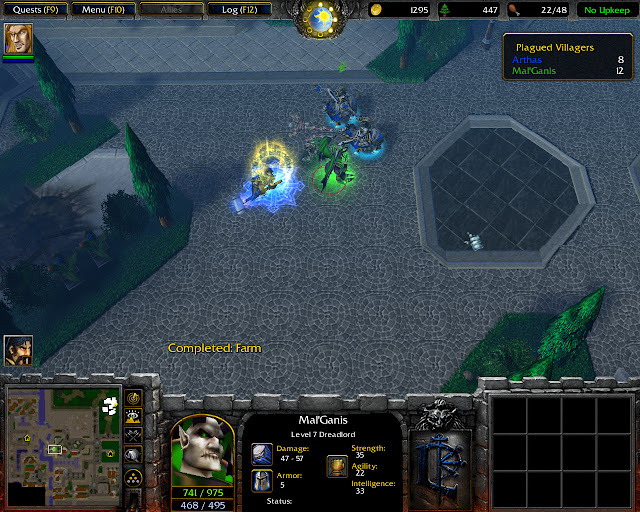 The Culling Mission 8   Mal'Ganis Screenshot   Warcraft 3: Reign of Chaos