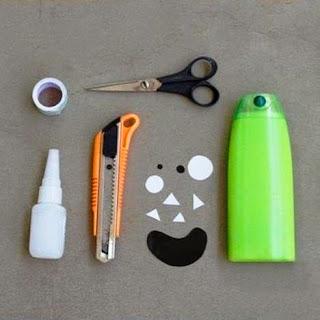 Kerajinan Tangan Dari Botol Bekas Shampoo - Wadah Pensil Lucu 1