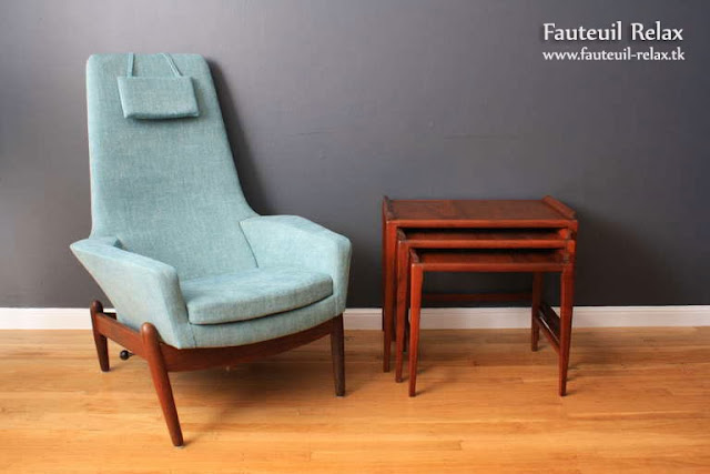 fauteuil scandinave danish inclinable fauteuil relax. Black Bedroom Furniture Sets. Home Design Ideas
