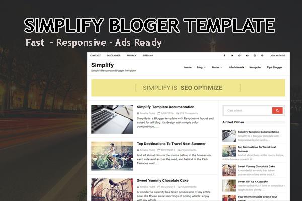 Simplify Free Responsive Blogger Template • Blogging Prince