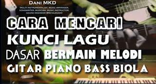 Cara Mencari / Menebak Chord Kunci Lagu Di Gitar, Piano, Bass, Biola