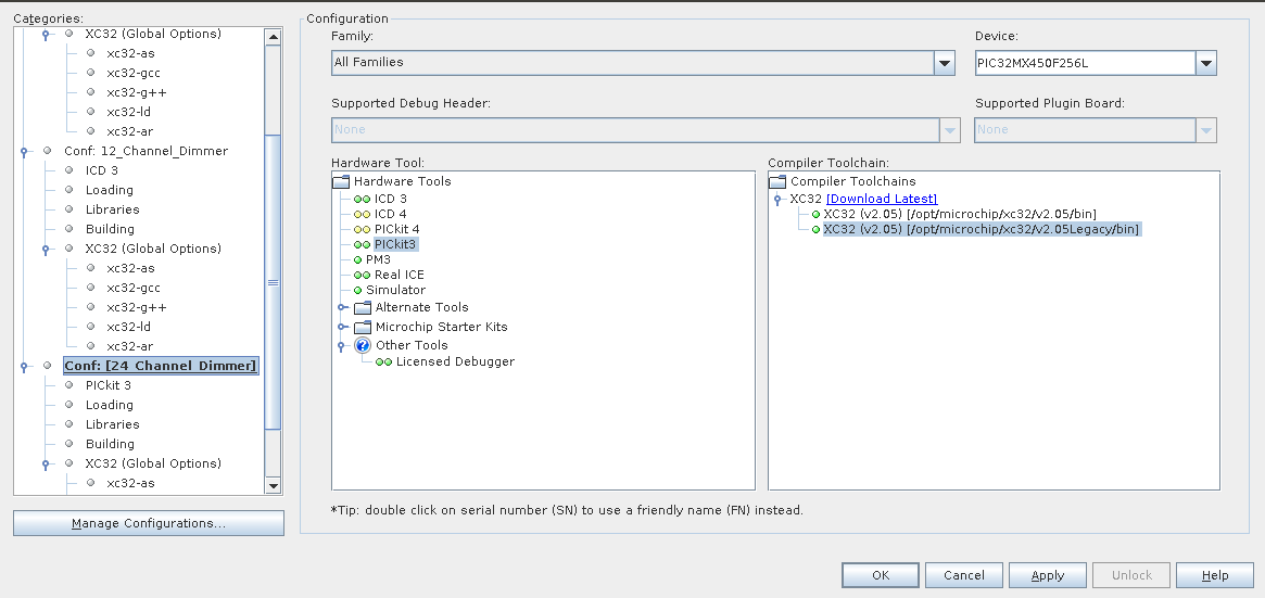 mplabx IDE setting   Embedded Playground