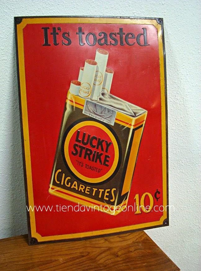 Carteles publicitarios vintage lucky strike