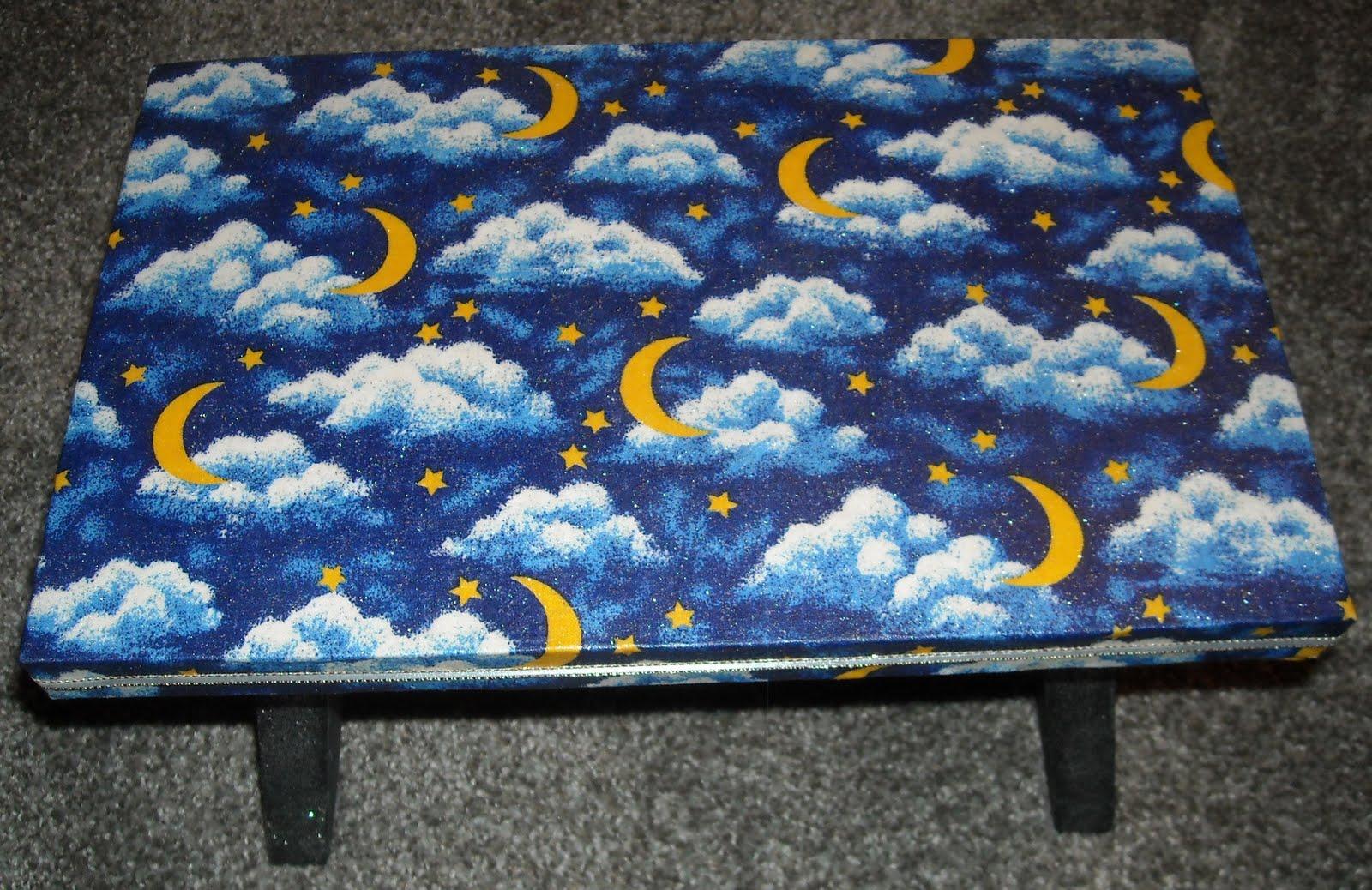Miraculous Babycakes Crafts Decoupage Foot Stool Machost Co Dining Chair Design Ideas Machostcouk