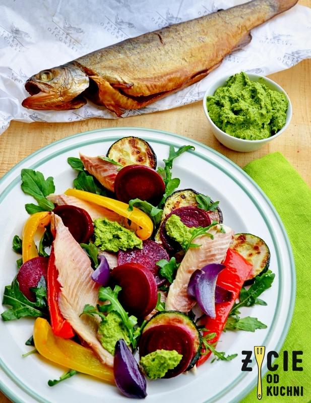 pstrag ojcowski, salatka, zycie od kuchni, produkt tradycyjny, malopolska do zjedzenia
