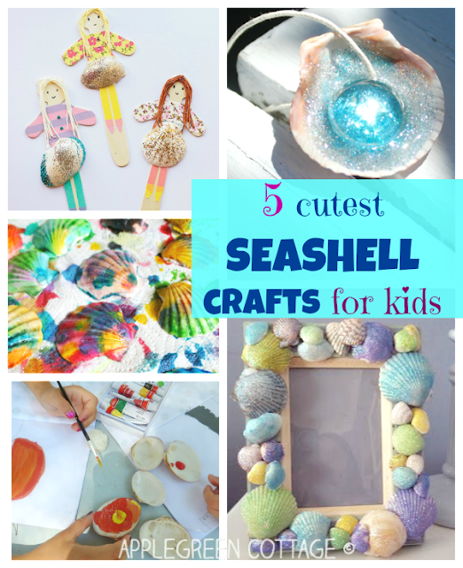 5 Cutest Seashell Crafts For Kids Applegreen Cottage