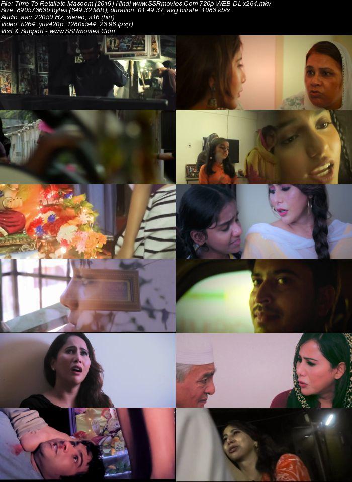 Time To Retaliate Masoom (2019) Hindi 720p HDRip x264 850MB Movie Download