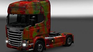 Abstract paint job for Scania RJL