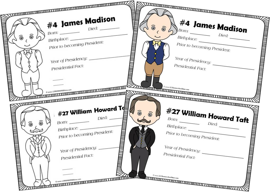 Free Presidents Of The United States Book For Kids