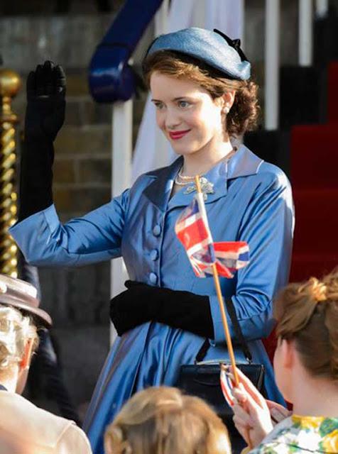 Rainha Elizabeth grávida The Crown