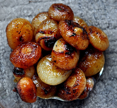 Braised Cipollini Onions - Photo by Michelle Judd of Taste As You Go