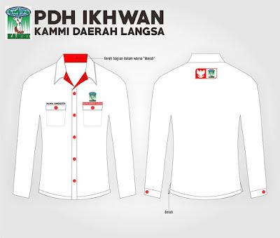 Desain baju Kemeja Organisasi Keren KAMMI Langsa Format Cdr