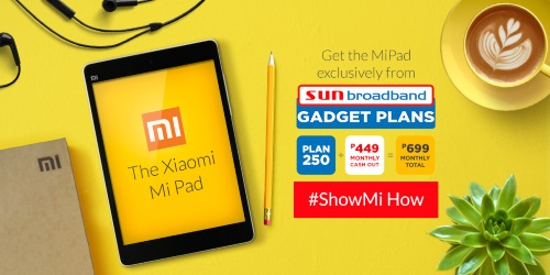 Xiaomi Mi Pad exclusively from Sun Broadband