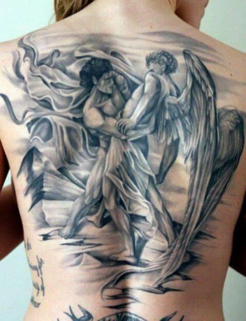 49 best angel tattoos designs for men women 2018 tattoosboygirl. Black Bedroom Furniture Sets. Home Design Ideas