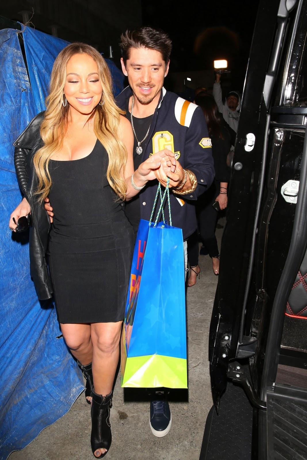 Bipolar Mariah Carey in skimpy LBD in Beverly Hills