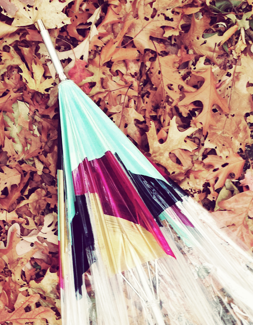 Tutorial: Easy DIY Geometric Painted Umbrella